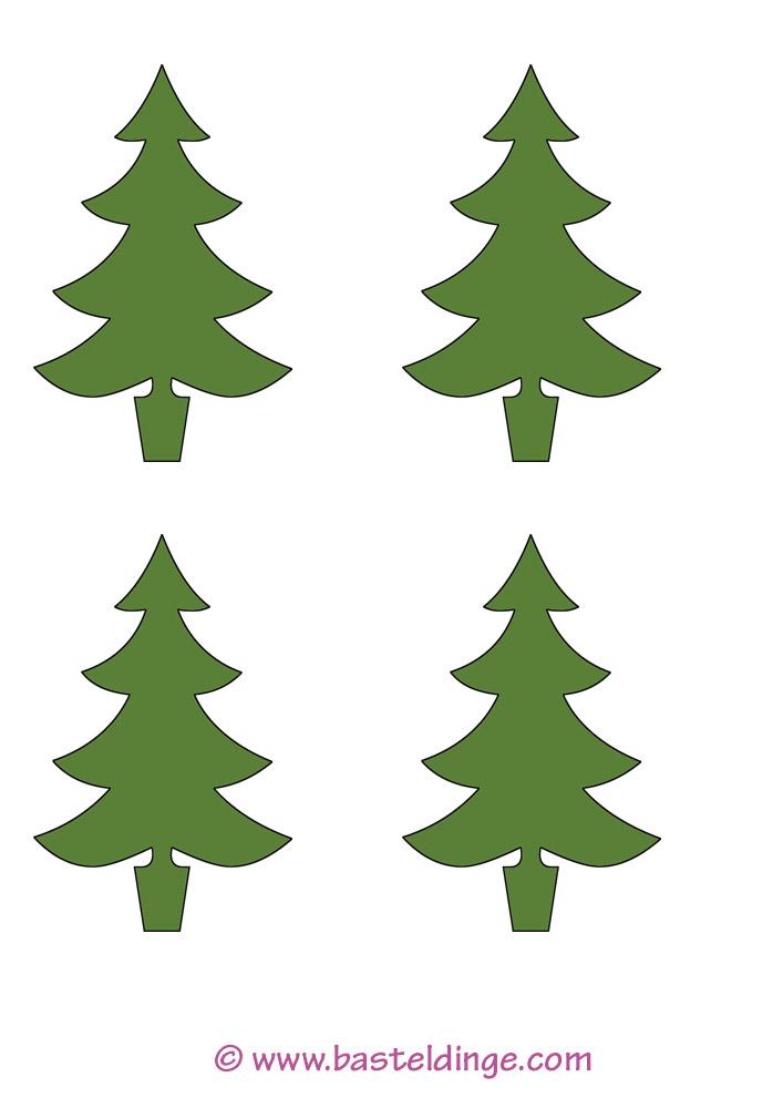 Bäumchen Und Bäume Vorlagen Basteldinge