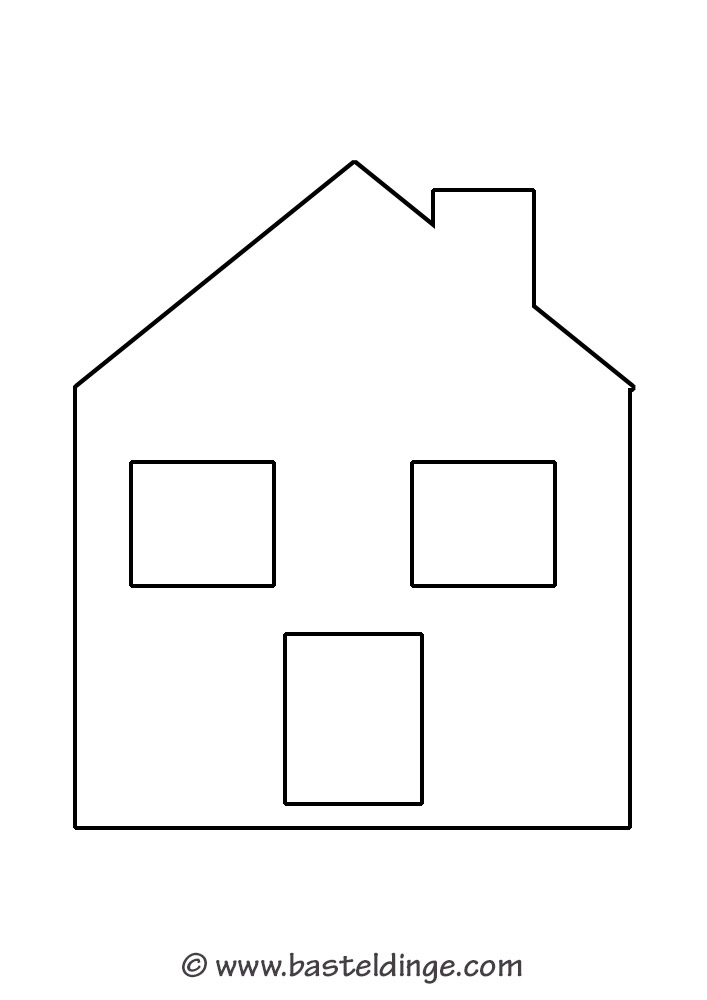 fensterbilder h user vorlagen basteldinge. Black Bedroom Furniture Sets. Home Design Ideas