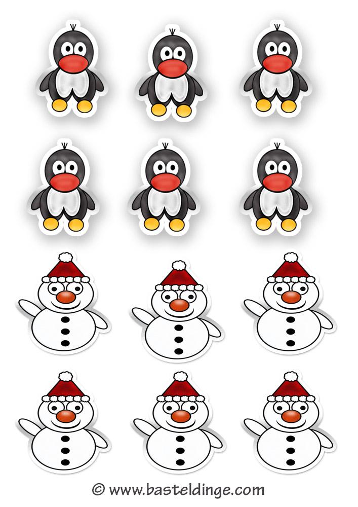 Winter Sticker Und Aufkleber Vorlagen Basteldinge
